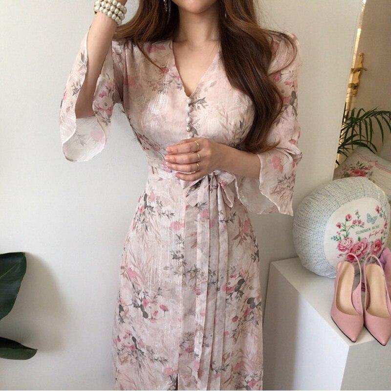 VICONE Temperament Elegant Collect Waist Chic Dress