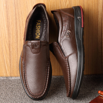 2020 New Real Leather Men's Casual Shoes Flats Formal Dress Shoes Nonslip Slip on Black Mens Loafers Breathable Male Footwear цена 2017