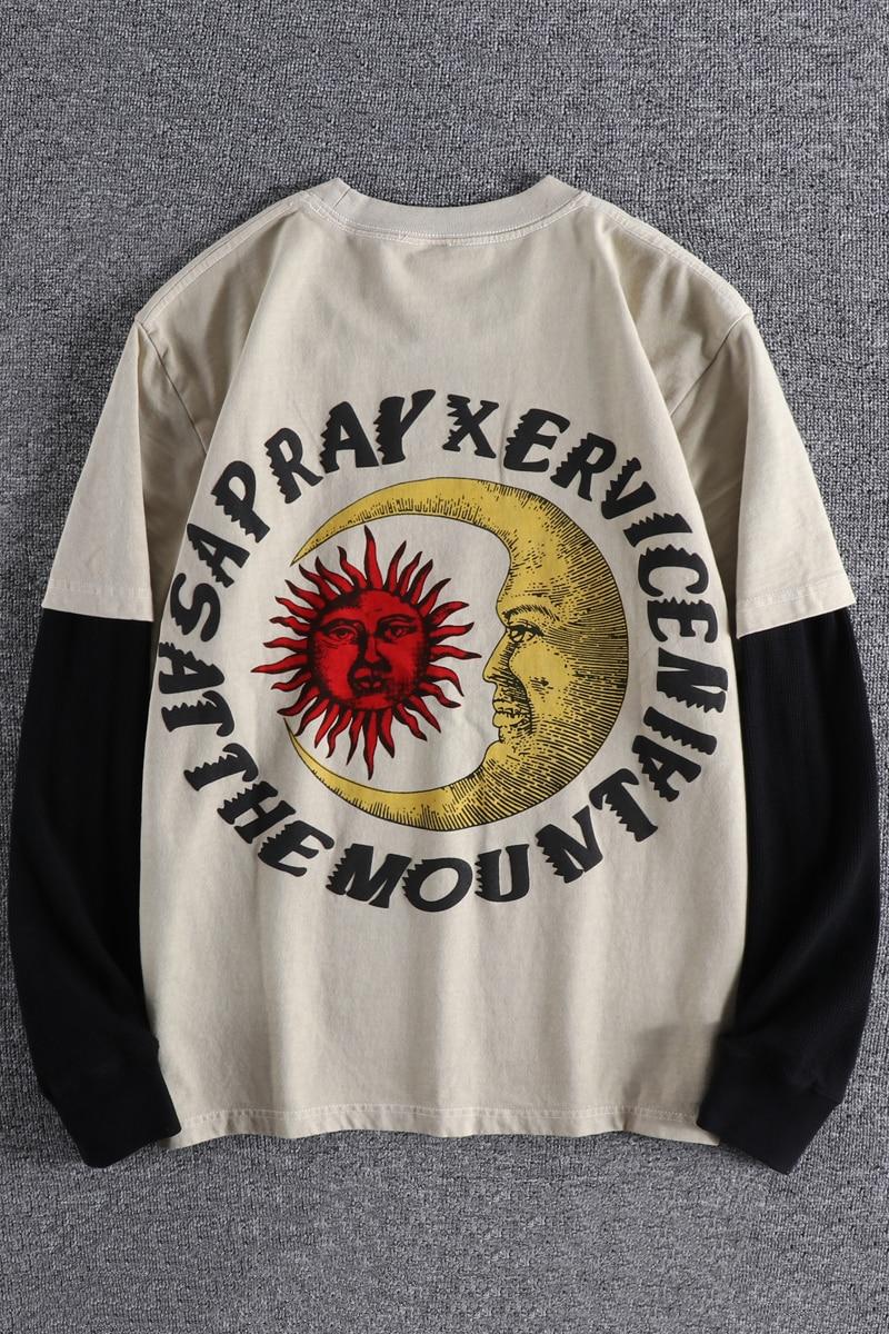 Купить весна осень 2020 двусторонняя футболка с надписью american youth