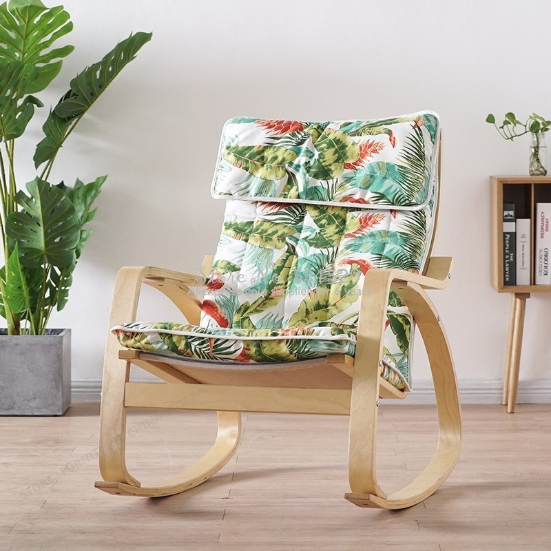 38%Concise Rocking Chair Dawdler Sofa Balcony Chair Leisure Time Chair Pregnant Woman Deck Chair Adult Household Armchair