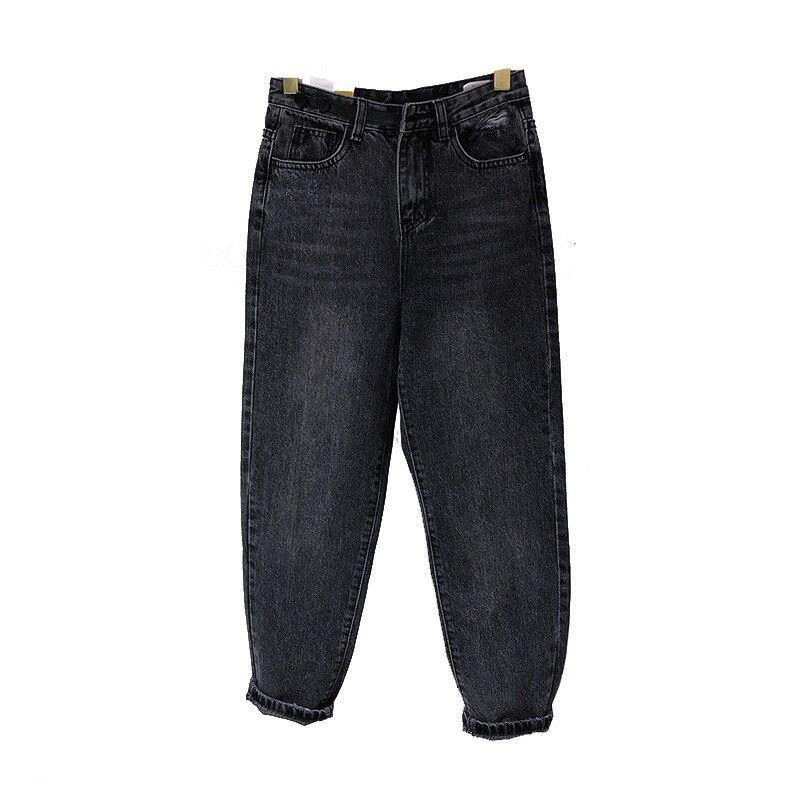 Fashion Dad Pants Woman Western Style Button Split  Jeans Female Harem Pants Jeans Women
