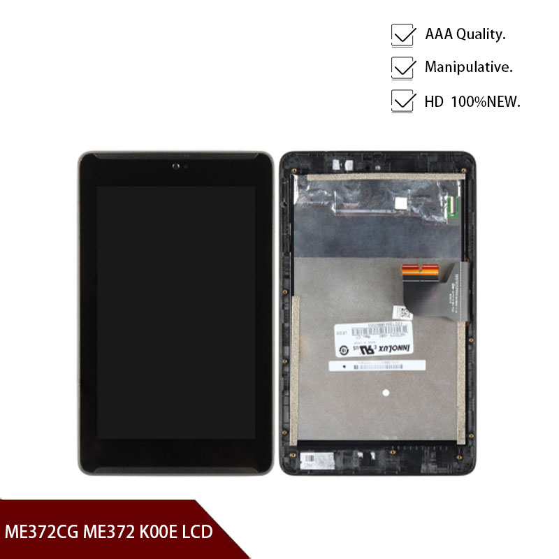 Original For <font><b>Asus</b></font> Fonepad 7 ME372CG ME372 <font><b>K00E</b></font> LCD Display Matrix Touch Screen Digitizer Assembly with Frame Tablet PC Repair image