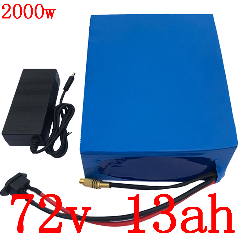 72V battery pack 72V 13AH electric bike batttery 72V lithium battery 72V 1000W 1500W 2000W electric bicycle battery with charger