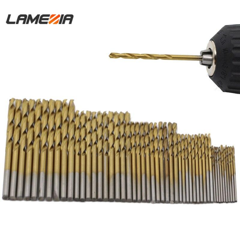 50PCS Mini Micro Round Shank Drill Bits Set Small Precision HSS Twist Drill .