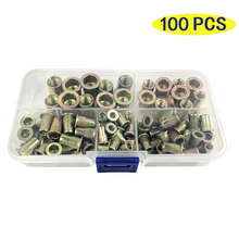 100pcs Zinc Plated Rivetnuts Blind Set Nutserts Threaded Insert Nutsert Cap Flat Head Rivet Nuts Carbon Steel M3 M4 M5 M6 M8