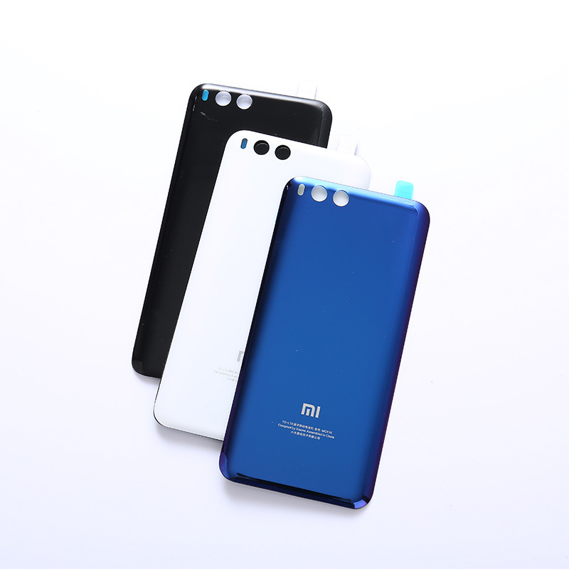 MI6 100% Original 3D Glass Rear Housing Cover For XIAOMI MI 6 , Back Door Replacement Hard Battery Case,3 Colors Stock Xiaom Mi6