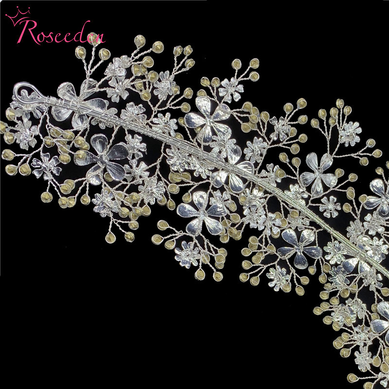 Image 5 - Elegant Bride Crystal Headbands Silver Rhinestone Tiara Hairbands