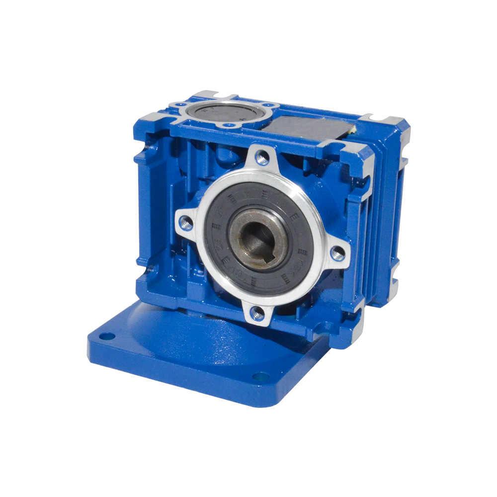 NMRV030 Gearbox Reducer Rasio 5/7. 5/10/15/20/25/30/40/50/60/80 Tinggi kualitas Motor Listrik Gearbox Digunakan untuk Pintu Otomatis Motor