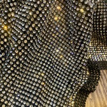 Crystal Castle Excellent Sparkle Scarf Mesh Rhinestones Sheet Strass Textile Net Rhinestones Fabric For Dresses