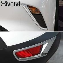 Dla Mazda CX3 CX-3 2019 2020 ABS Chrome przednia część dolna Foglight powieki pokrywa światła przeciwmgielne brwi brwi pasek zderzak wykończenia akcesoria