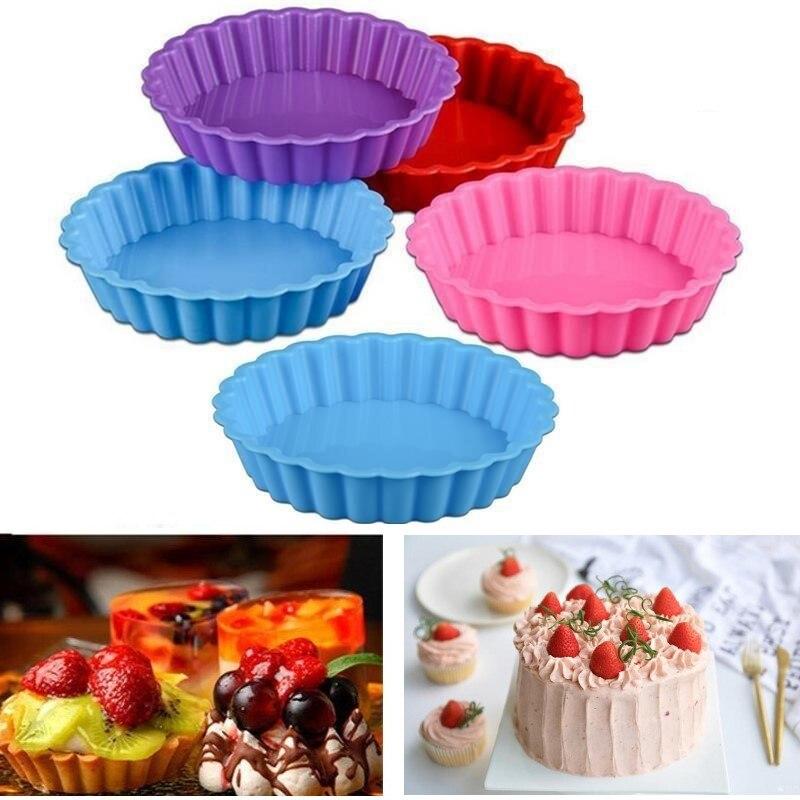 1 шт. многофункциональная силиконовая форма для торта антипригарная термостойкая многоразовая форма для выпечки кухонная форма случайного цвета для хлеба Формы для тортов    АлиЭкспресс - форма для выпечки