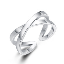 925 Sterling Silver Design Cross Adjustable Tail Ring for Women Opening Engagement Ring fine Jewelry недорого