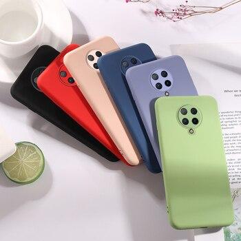 Перейти на Алиэкспресс и купить Чехол для Xiaomi Poco F2 Pro, резиновый жидкий силиконовый чехол, противоударный бампер, мягкий чехол для Xiaomi Poco F2 Pro, чехол для Poco X2 Redmi K30 Pro, чехол для...