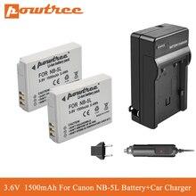POWTREE NB-5L NB 5L NB5L Li-ion Battery+Car Charger For Canon S110 SX200 SX210 SX220 SX230 IS HS IXUS 850 870 800 860 990 SD 950 цена 2017