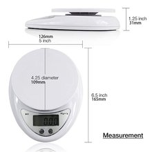 High Precision Mini Kitchen Scale Electronic Food With Large Platform And Lcd Display Pocket