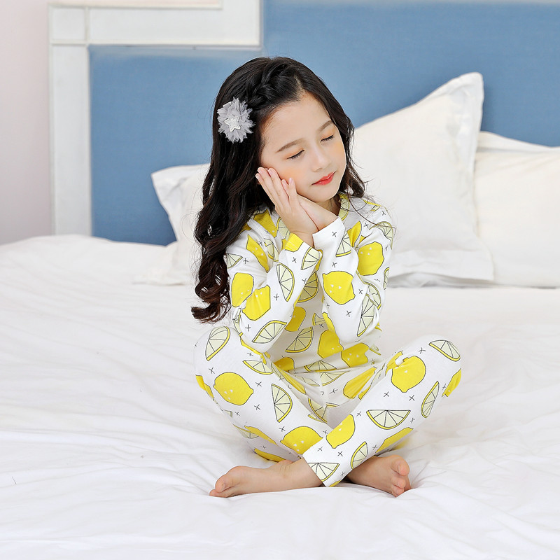 CHILDREN'S Underwear Suit Autumn And Winter Baby Thermal Underwear Warm Pajamas BOY'S Girls Tracksuit Big Boy Printed