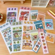 Decoration Sticker Album Scrapbook Diary Diy-Craft Happy-Girl Korean Cartoon Fudge Toy