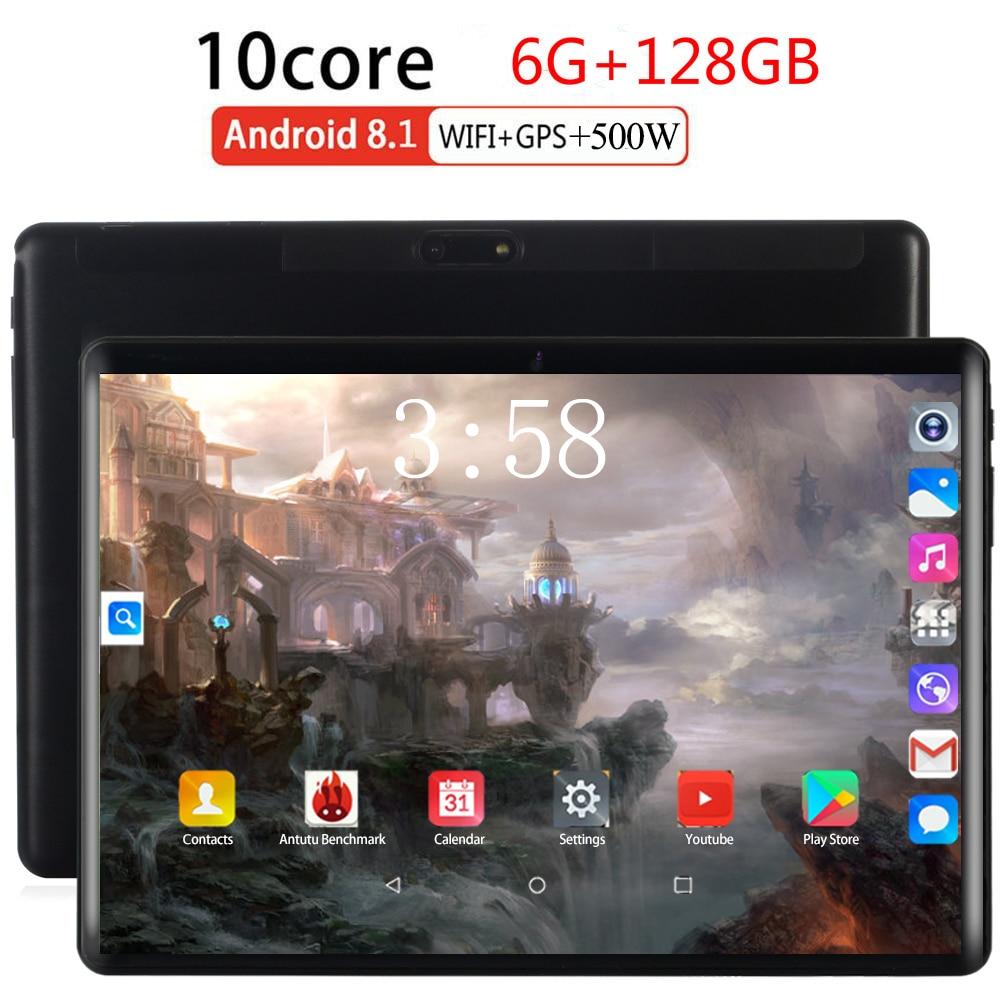 2020 Global 10.1 Inch 2.5D Tablet PC Octa Core 6GB RAM 64GB 128GB ROM 1280*800 IPS 5000mAh Android 8.0 Dual Sim 3G LTE Tablets
