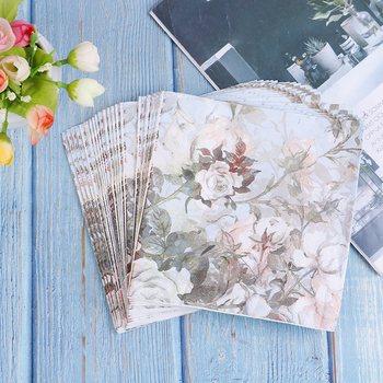 20PCS Paper Flower Napkins For Decoupage Kleenex Tableware Tissues DIY Craft Decoration