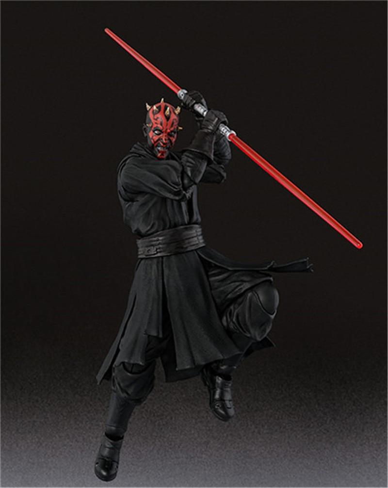 15cm Shf Star Wars Darth Maul Lightsaber Black Series Action Figures Super Movable Joints Face Change Pvc Models Gifts Figures 9