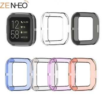 Ultra-thin Soft TPU Protector Case Cover Clear Protective Shell For Fitbit Versa 2 Band Smart Watch bracelet Screen Protector 3pcs protective flim screen protector ultra thin clear lcd guard shield cover skin for samsung galaxy fit fit e bracelet tools