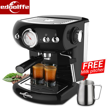 Edoolffe  espresso Machine Built-In Milk Frother 19Bar Pump System Coffee Makers 960W Coffee Machines 220-240v 50HZ 1000w 1000wsmoke machine oil suction pump model 40dcb 31 voltage 220 240v 50hz power 31w