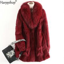 2020 Real Fur Coat Winter Jacket Women Natural Rex Rabbit