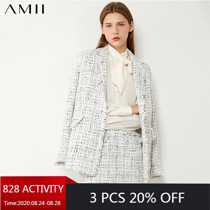 AMII минимализм Осень Зима Мода темперамент плед твидовая куртка Высокая талия Алин мини юбка костюм женский 12070344|Спортивные костюмы|   | АлиЭкспресс - Трендовые вещи из сериала «Эмили в Париже»