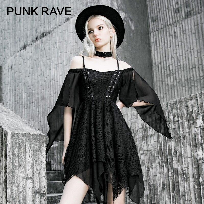 Rave Club Kid  Dress Futuristic Dress Goth Dress faux leather Cyberpunk Sci Fi pleather dress sheer mesh dress black mini dress gothic s m L