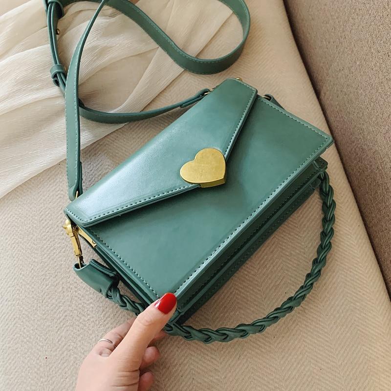 Elegant Female Square Crossbody Bag 2020 Fashion New Quality PU Leather Women's Designer Handbag Weave Shoulder Messenger Bag