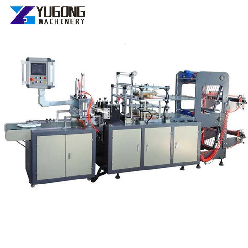 High Production Plastic Automatic Disposable Pe Glove Bag Making Machinery Polythene Pe Plastic Glove Making Machine