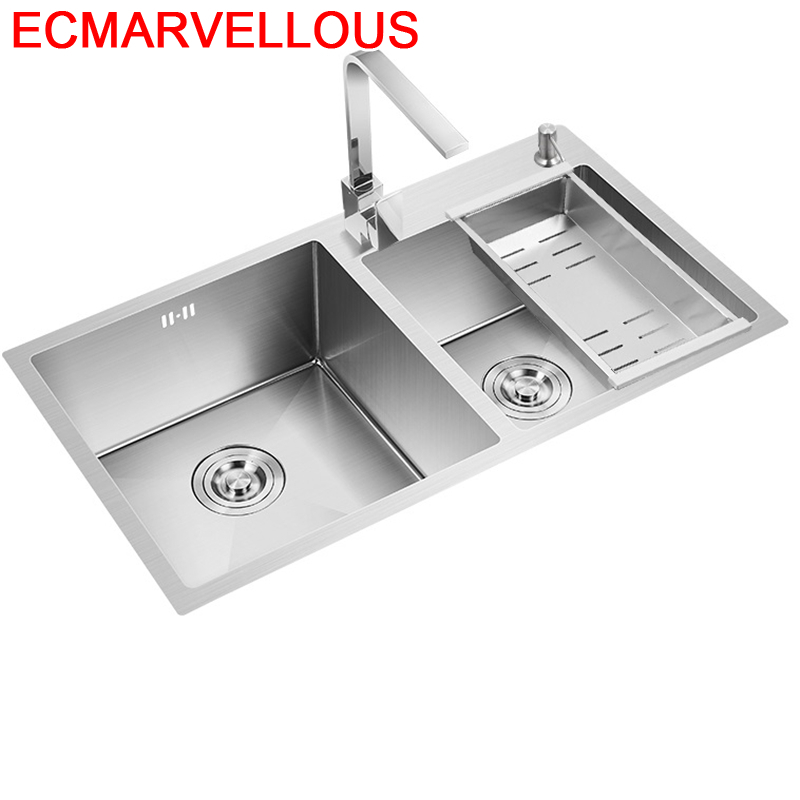 Spoelbak Acero Dissipador Banheiro Waschbecken Inoxidable Inox Integral Lavabo Fregadero De Cocina Cuba Pia Cozinha Kitchen Sink