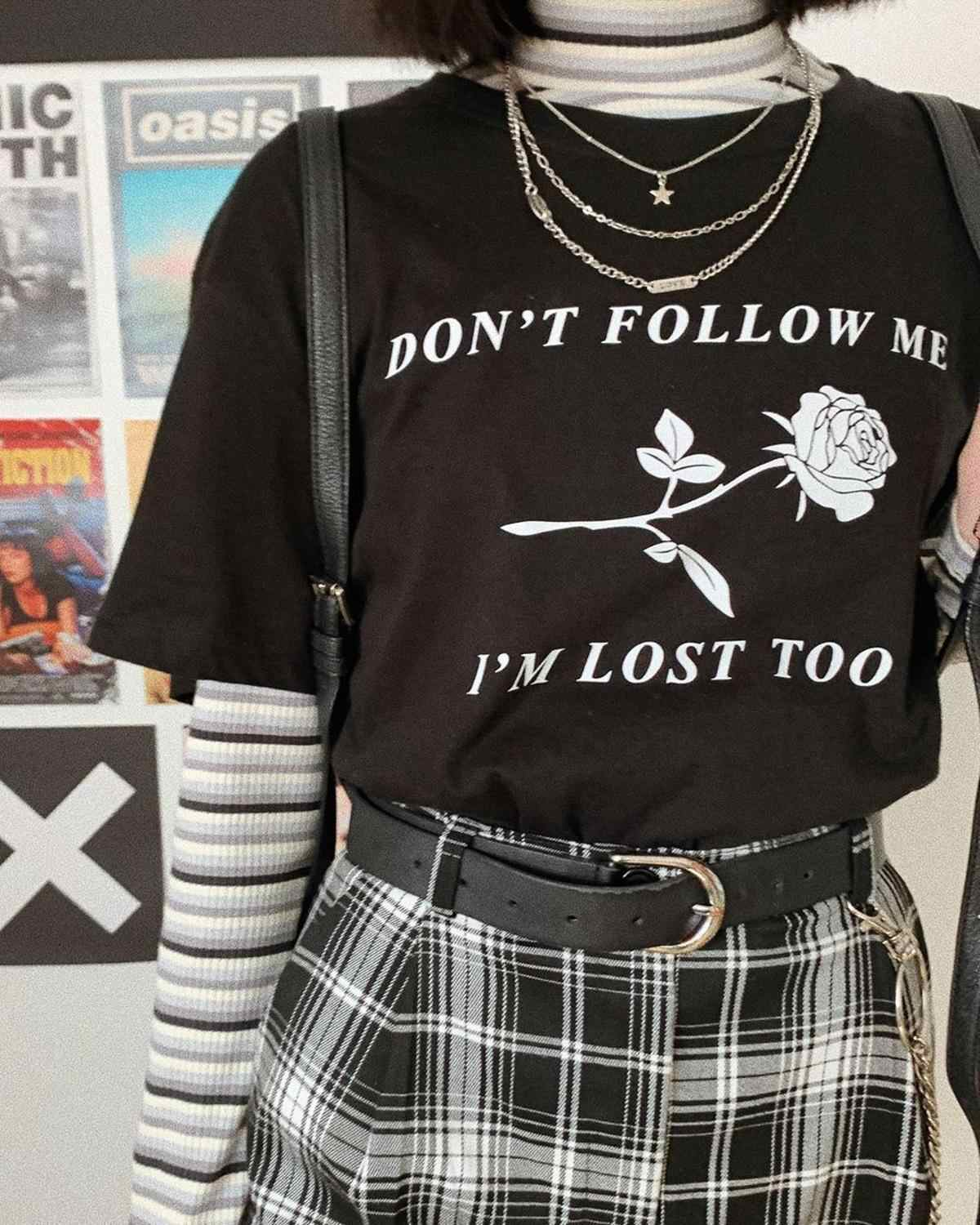 2020 New Harajuku aesthetics Tshirt Rose Print Short Sleeve Tops & Tees Fashion Casual Couple T Shirt 90'S Clothing T-Shirt