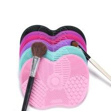 Основа для макияжа кисть для скруббера доска силиконовая Кисть для макияжа коврик для очистки мытье кистей для макияжа гель чистящий коври...