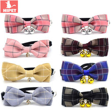 HIPET Cute Dog Cat Collar With Bell Safety Personalized Adjustable Bowknot Pet Small Dogs Cats Supplies