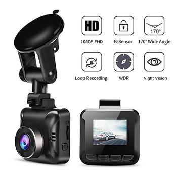 1.5 Inch 1080P HD Car DVR Camera High Quality Dash Camera Vehicle Digital Video Recorder 170 Degree Square Car Dashcam Registrar image