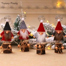 Twins Party Christmas Place Card Holder Stand Xmas Table Decoration  Note Wedding Number