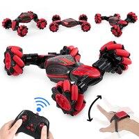 Coche acrobático todoterreno teledirigido 4WD de 2,4 GHz con luz, Sensor de gestos, reloj, música, regalos para niños, juguetes a control remoto