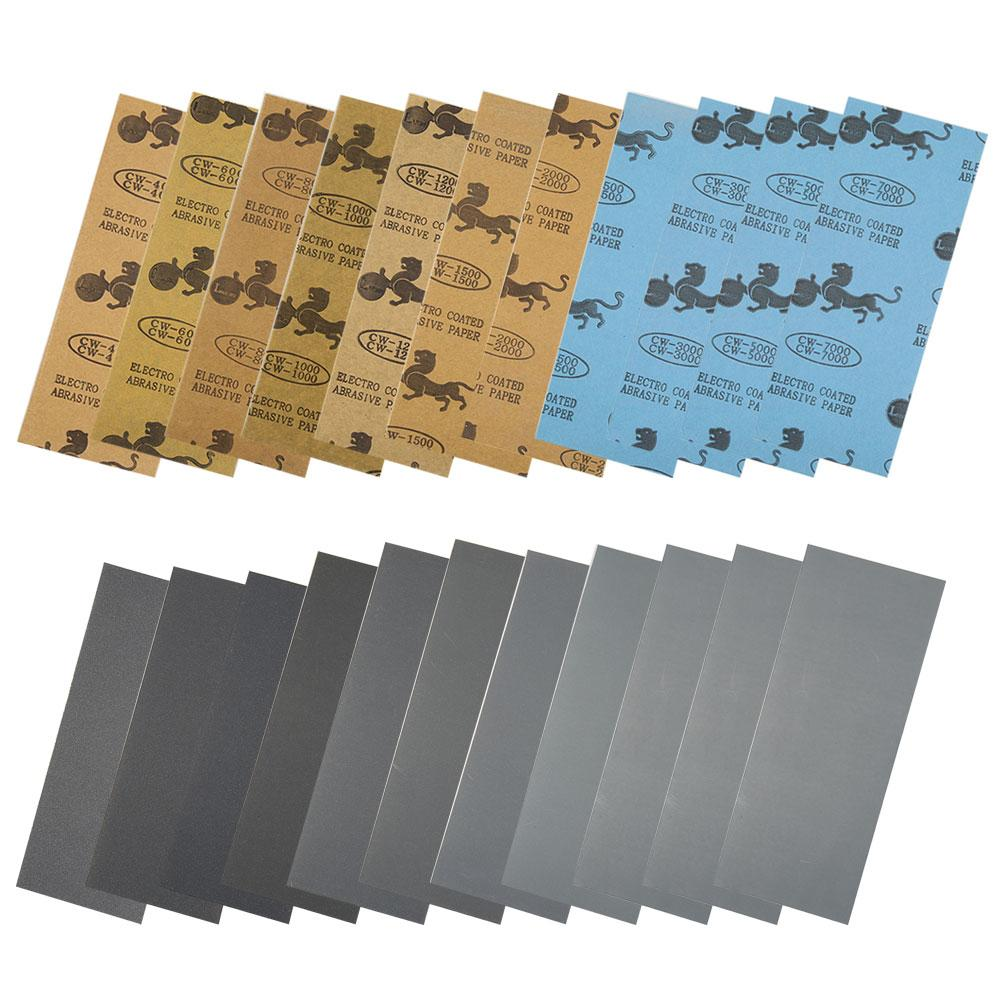 Professional Car Automotive Sandpaper Wet Dry Sandpaper Sheets 400/600/800/1000/1200/1500/2000/2500 Grinding Abrasive Stone