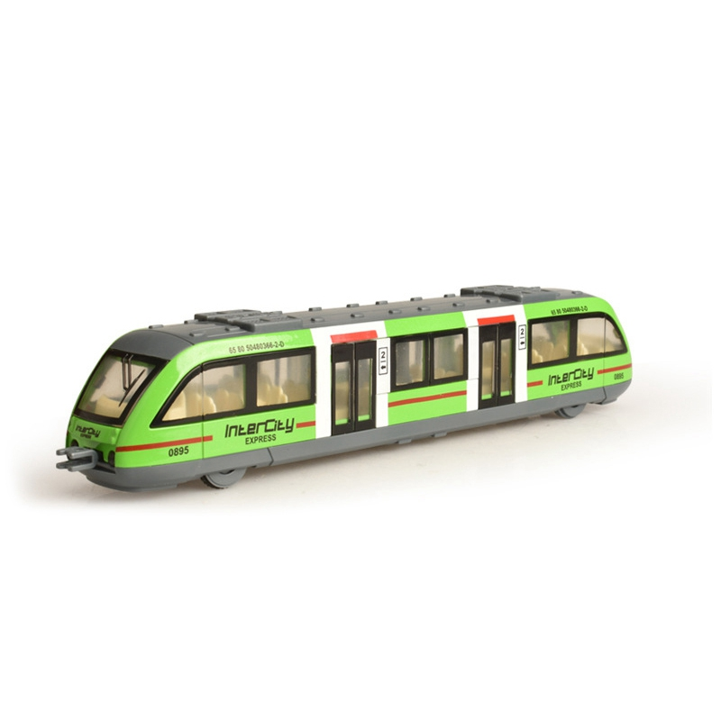 1:64 Magnetic Pull Back Alloy Connected Subway Metro Train Track Alloy Model Toy