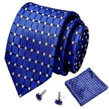 Мужской комплект из галстука и носового платка 75 см