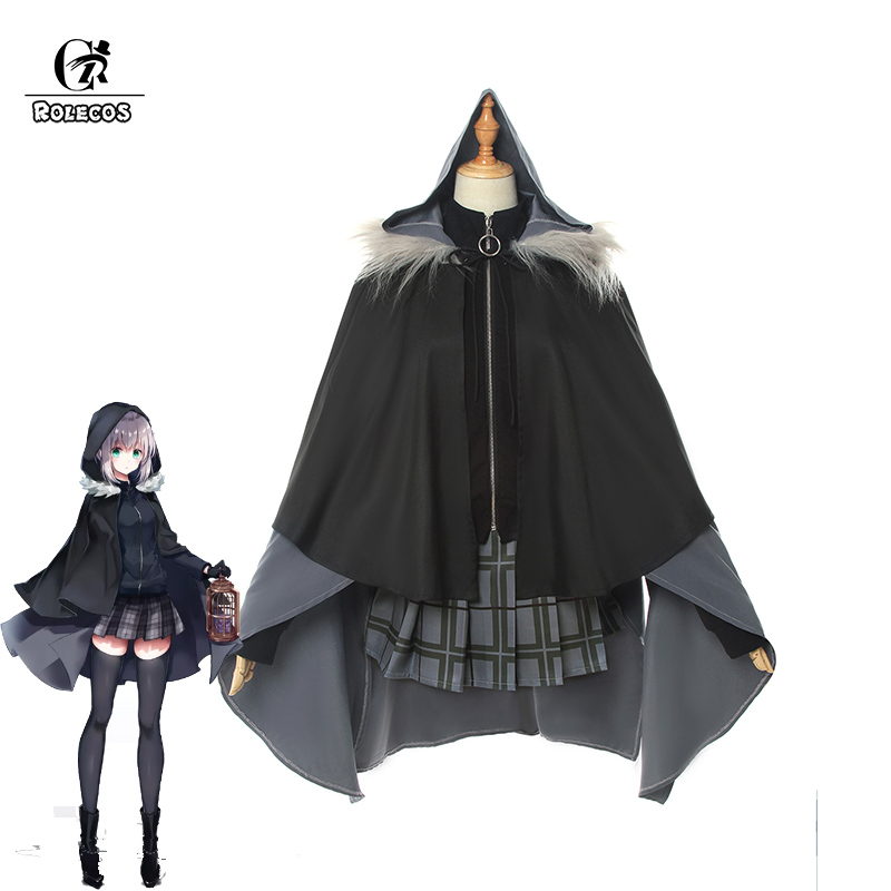 ROLECO Game FGO Lord El-Melloi II Case Files Cosplay Costume Gray Cosplay Costume Women Uniform Outfit Halloween Cloak Suit