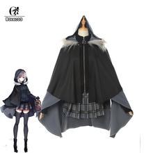 ROLECO Game FGO Lord El-Melloi II Case Files Cosplay Costume Gray Women Uniform Outfit Halloween Cloak Suit