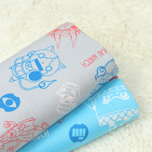 Width 140cm DIY Sewing Cotton Plain Fabric Monster Printed Pure Patchwork Handmade Textile For Kid & Child