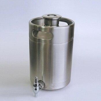 stainless steel  wine barrel with Water tap 5L domestic white wine barrel sealed self brewing fermentation tank fermenter