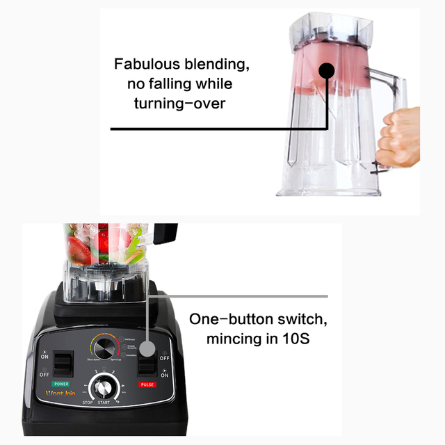 Mixer Fruit Juicer Machine Milk Shake CE Food Processor Ice Crusher Smoothies