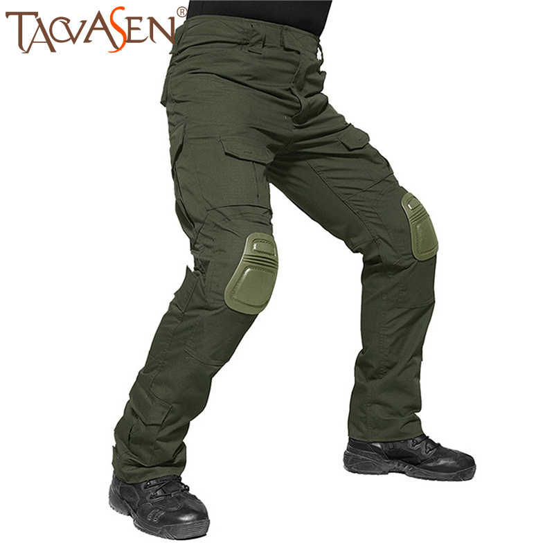 Men Tactical Army Cargo Pant Combat Outdoor Hiking Hunting Trousers Multi-pocket