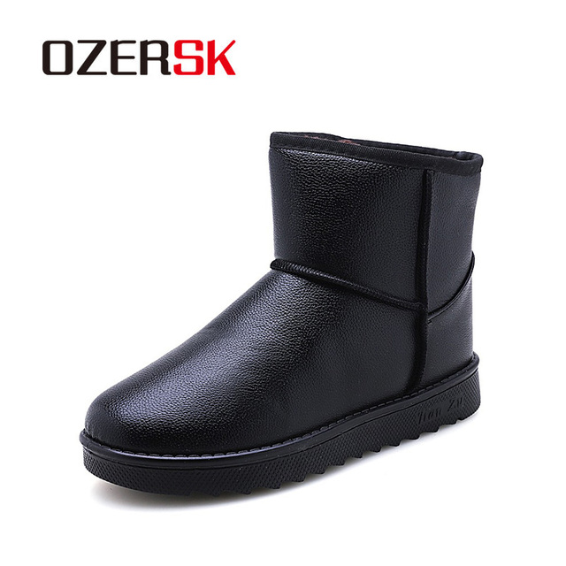 reputación confiable forma elegante despeje OZERSK marca 2019 hombres moda tobillo botas invierno otoño nieve al aire  libre impermeable de mantener los zapatos calientes para