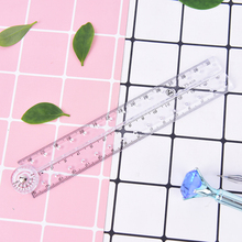 1PC Transparent Plastic Acrylic Folding Straight Rulers 30Cm Drawing Student Children Stationery School Supplies Gift