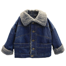 Boys Denim Jacket Winter Baby Boy Clothes Wool Warm Coat Kids Outerwear Coats Children Jacket for Boys Clothing 2 3 4 5 6 7 Year fashion autumn winter jacket for boys children jacket kids hooded warm outerwear coat for boy clothes 2 10 year baby boys jacket